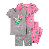 Baby Girl Carter's 4 pc Pajamas Set