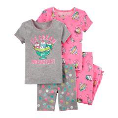 Baby Girl Carter's 4-pc. Pajamas Set