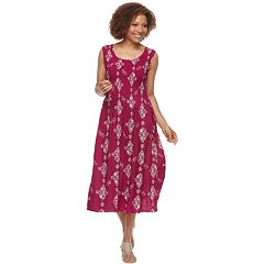 Petite Croft & Barrow® Smocked Tank Dress