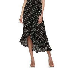 Women's Studio 253 Printed Ruffle Maxi Skirt