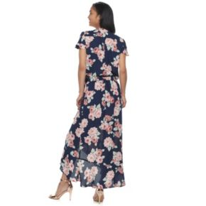 Women's Studio 253 Printed Ruffle Maxi Skirt