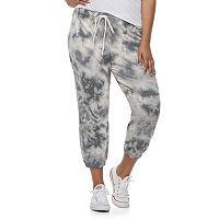 Juniors' Plus Size SO® Crop Jogger Sweatpants