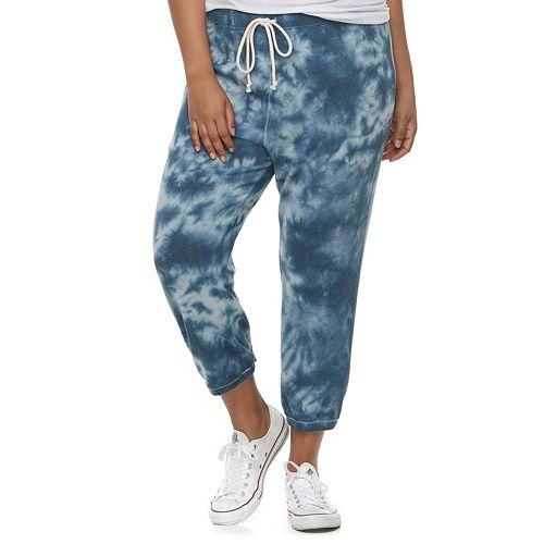 97c09c95d70df9 Juniors' Plus Size SO® Crop Jogger Sweatpants
