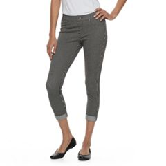 Women's Utopia by HUE Cuffed Railroad Capri Leggings