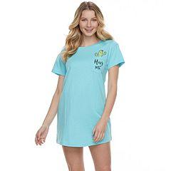 Juniors' Peace, Love & Fashion Graphic Pocket Sleepshirt