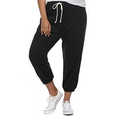 Juniors' Plus Size SO® Cropped Jogger Sweatpants