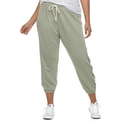 454f93a197513c Juniors' Plus Size SO® Cropped Jogger Sweatpants