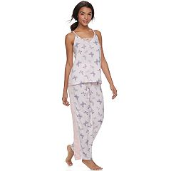 Juniors' Peace, Love & Fashion Tank & Pants Pajama Set