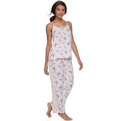 Juniors' Peace, Love & Fashion Tank & Pants Pajama Set