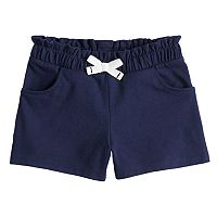 Baby Girl Jumping Beans® Gathered Knit Shorts
