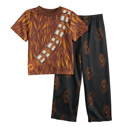 63804c432c Boys 4-10 Star Wars Chewbacca 2-Piece Costume Pajamas