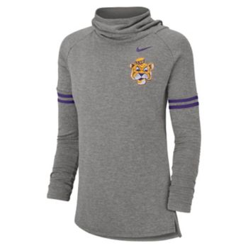 Women's Nike LSU Tigers Funnel Neck Tee