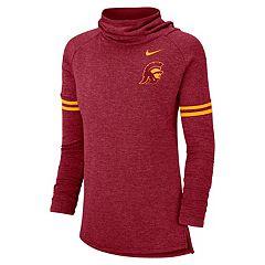 Women's Nike USC Trojans Funnel Neck Tee
