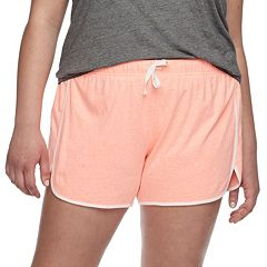 Juniors' Plus Size SO® Slubbed Dolphin-Hem Shorts