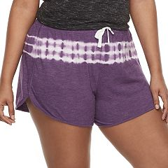 Juniors' Plus Size SO® Slubbed Dolphin-Hem Shorts
