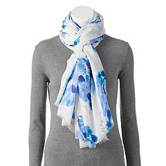 love this life Watercolor Sunflower Oversized Wrap Scarf