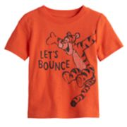 "Disney's Tigger Baby Boy ""Let's Bounce"" Slubbed Graphic Tee by Jumping Beans®"