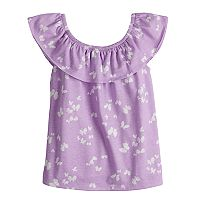 Toddler Girl Jumping Beans® Ruffled Print Top