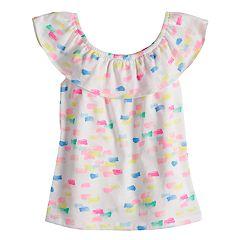 Toddler Girl Jumping Beans® Ruffled Print Top