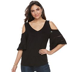 Women's Apt. 9® Cold-Shoulder Flutter Tee