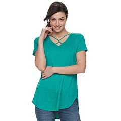 Women's Apt. 9® Strappy Twist Tunic