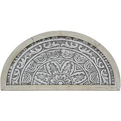 Arched Gray Medallion Wall Decor