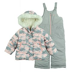 Girls 4-6x OshKosh B'gosh® Faux-Fur Jacket & Bib Snow Pants Set