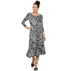 Women's Nina Leonard Floral A-Line Dress