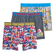 Boys 6-10 Pokemon 3-Pack Boxer Briefs