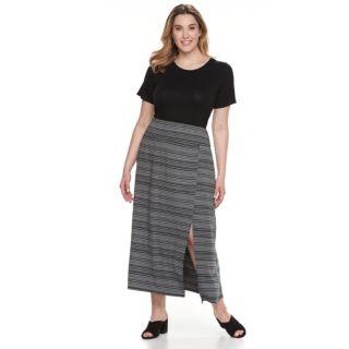 Plus Size Apt. 9® Tummy Control Maxi Skirt