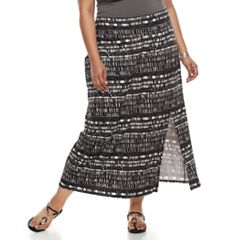 Plus Size Apt. 9® Tummy Control Maxi Skirt
