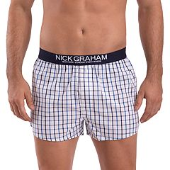 Men's Nick Graham Modern-Fit Patterned Cotton Boxer Briefs