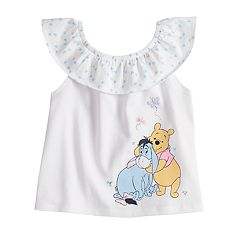 Disney's Winnie the Pooh Baby Girl Eeyore & Pooh Bear Graphic Tank Top