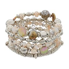 5-Row Beaded Stretch Bracelet