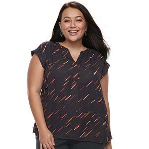 20389c6ad61 Plus Size Apt. 9® Zipper-Front Georgette Top