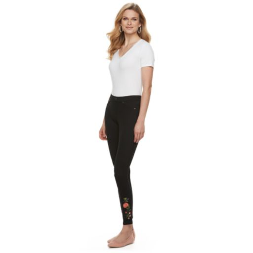 Women's Utopia by HUE Buttercup Floral Patch Leggings