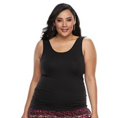 Plus Size Apt. 9® Essential Reversible Seamless Tank