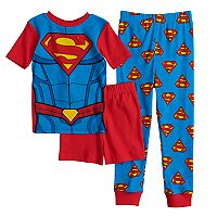 Boys 4-10 Super-Man 3-Piece Pajama Set