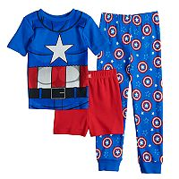 Boys 4-10 Captain America 3-Piece Pajama Set