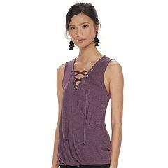 Women's Jennifer Lopez Lace-Up Jersey Tank