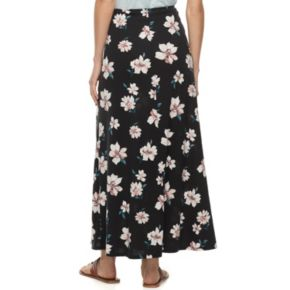 Women's Studio 253 Printed Twist-Front Maxi Skirt