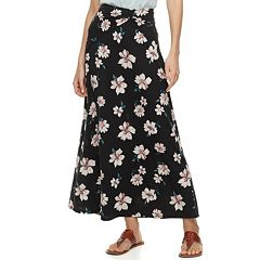 Women's Studio 253 Printed Twist-Front Maxi Skirt