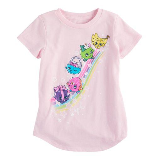 Girls 4-10 Jumping Beans® Shopkins Miss Pressy, D'lish Donut & Handbag Harriet Rainbow Tee