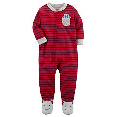 Baby Boy Carter's Pocket Striped One-Piece Footed Pajamas