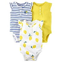 Baby Girl Carter's 3-Pack Lemon Yellow Bodysuits
