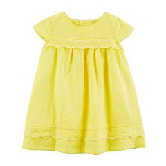 Baby Girl Carter's Yellow Scalloped Dress with Bloomers