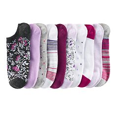 SONOMA Goods for Life™ 10-pk. Low-Cut Floral Stripes & Dots Socks