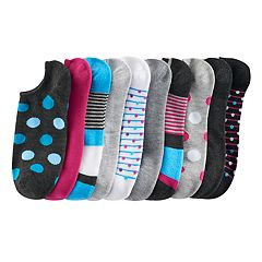 SONOMA Goods for Life™ 10-pk. Low-Cut Polka-Dots & Stripes Socks