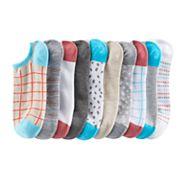 SONOMA Goods for Life™ 10 pkLow-Cut Checkboard & Dots Socks