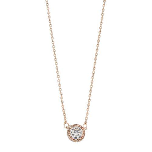 Lc Lauren Conrad Cubic Zirconia Halo Necklace by Kohl's
